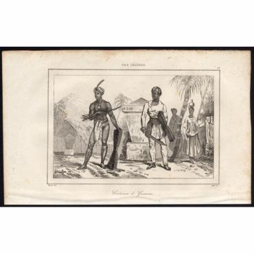 Costumes de Guerriers - 59, Iles Celebes - Rienzi (1836)