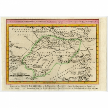Carte de la petite Bukharie et pays voisins - Bellin (1758)