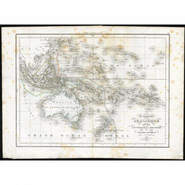 Carte de l'Oceanie contenant l'Australie la Poynesie et les iles Asiatiques - Anonymous (1840)