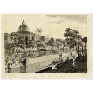 Vista d' una parte della citta di Batavia - Medland (1806)