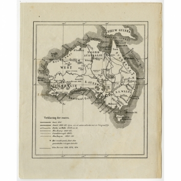 Untitled Map of Australia - Anonymous (c.1900)