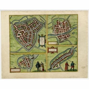 Sneecha - Doccum - Sloten - Ylsta - Hogenberg (1572)