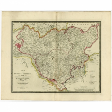 Map of the Duchy of Holstein (..) - Wyld (1854)
