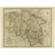 Map of the Kingdom of Hanover (..) - Wyld (1854)