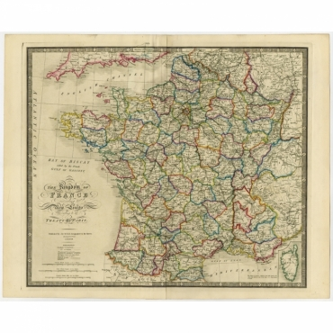 The Kingdom of France (..) - Wyld (1854)