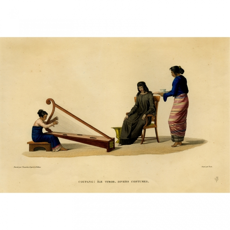 Coupang: Ile Timor. Divers Costumes - Prot (1825)