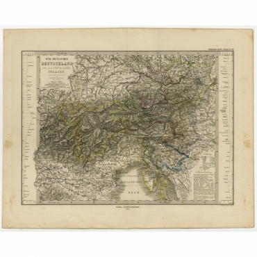 Sud-Ostliches Deutschland nebst einem Theile des nordlichen Italien - Stieler (1873)