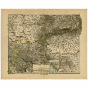 Osterreich-Ungarn in 4 Blattern, Blatt 4 - Stieler (1890)