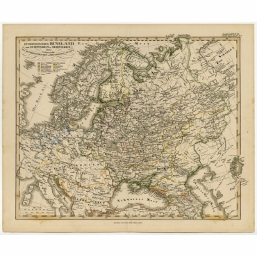 Europaeisches Russland auch Schweden u. Norwegen (..) - Stieler (1855)
