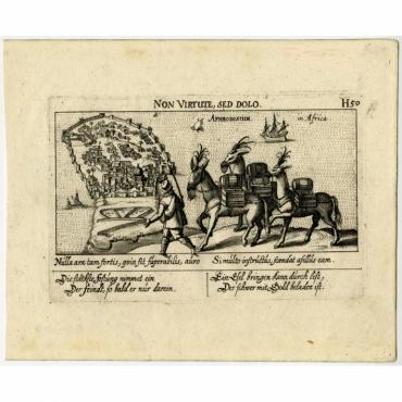 Non Virtute, sed dolo. Aphrodisium in Africa - Meisner (c.1630)