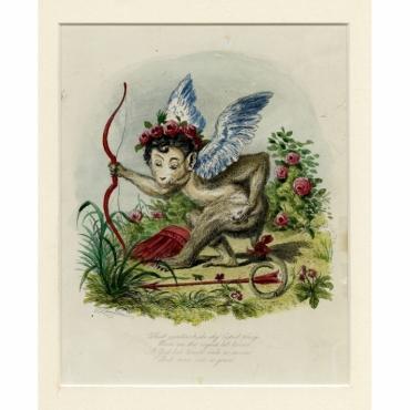 The Monkey-Cupid - Landseer (1828)