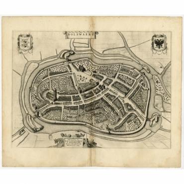 Bolswaert (uncoloured) - Blaeu (1652)