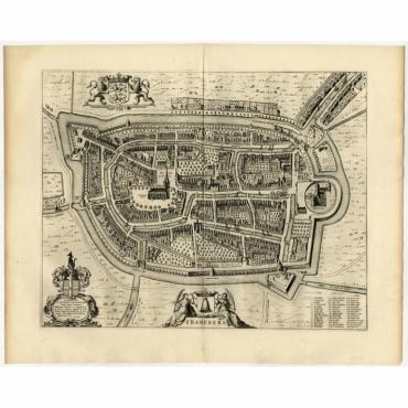 Franekera (uncoloured) - Blaeu (1652)