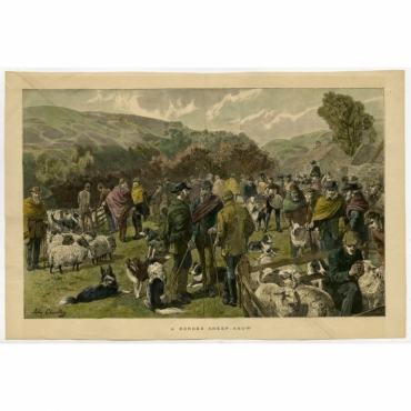 A Border Sheep-Show - Anonymous (c.1870)