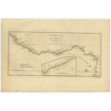 Drawn from d'Anvilles Map of the Coast of Guinea (..) - Bowen (1788)