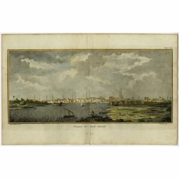 Prospect der Stadt Damiat - Haas (1774)