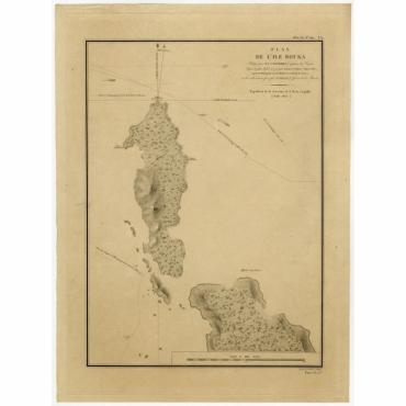 Plan de l'Ile Bouka. Expedition de la Corvette de S.M. la Coquille - Tardieu (1825)