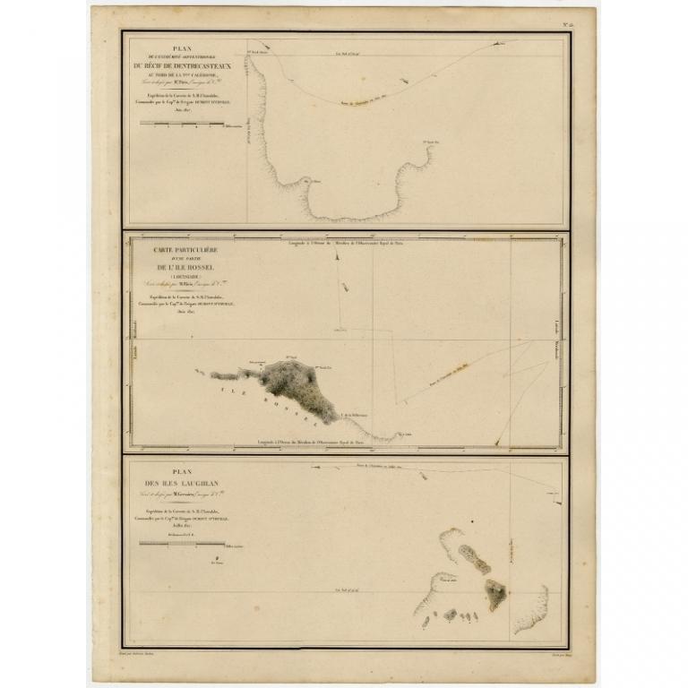 Plan de l'extremite septentrionale du Recif de D'entrecasteaux (..) - Tardieu (1833)