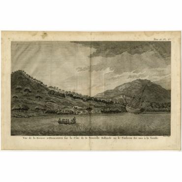 Vue de la Riviere d'Endeavour sur la Cote de la Nouvelle Hollande (..) - Cook (1774)