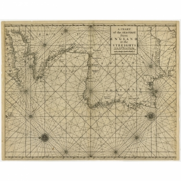 A Chart of the Sea-Coast from England to the Streights - Mount & Page (c.1700)