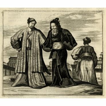 Kleeding der Japansche Heeren - Montanus (1669)