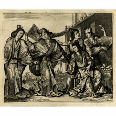 Het prachtig Gewaad eens Japansche Mevrouw - Montanus (1669)