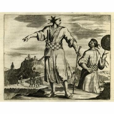 De dragt eens gemeinen Japanschen burger - Montanus (1669)