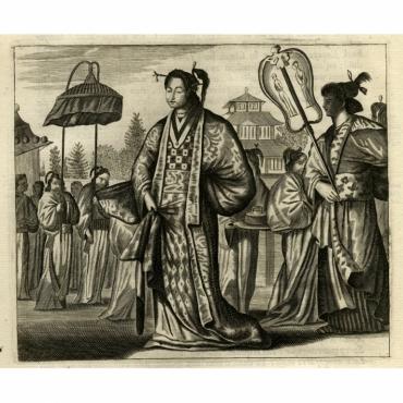 Een Japansche Juffrouw - Montanus (1669)