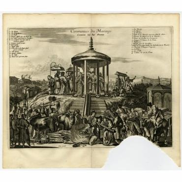 Ceremonies du Mariage. Ceremonie van haer Trouwen - Montanus (1669)