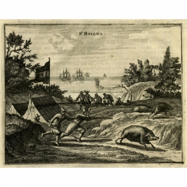 St. Helena - Montanus (1669)