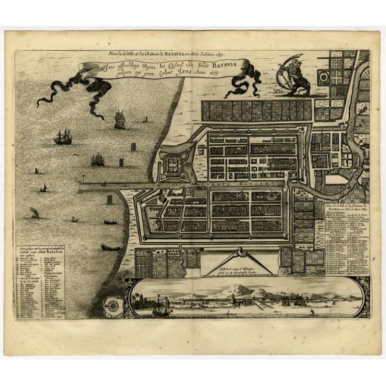 Ware afbeeldinge wegens het Casteel ende Stadt Batavia (..) - Montanus (1669)