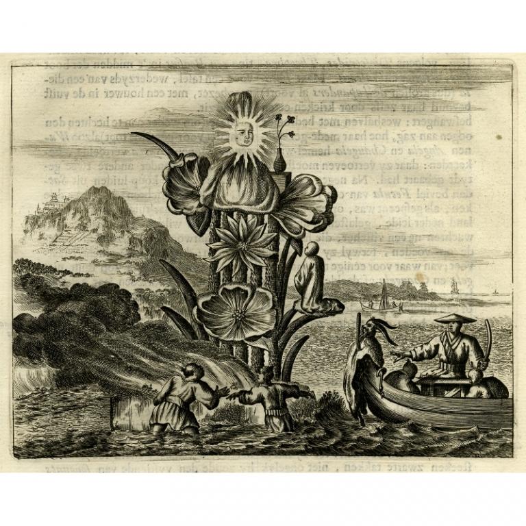 Beschryving van de wonderlyke Japansche afgodinne Pussa - Montanus (1669)