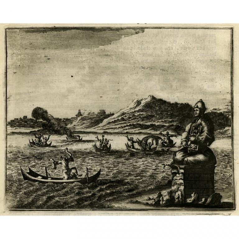 Wonderlyk eigen-moorden in Japan gebruikelyk ter eeren der afgoden - Montanus (1669)