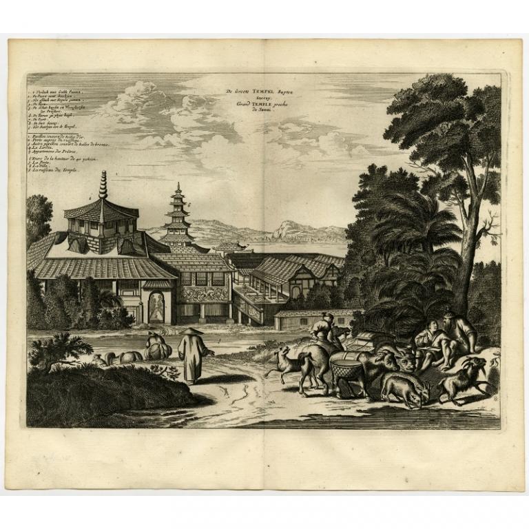 De Groote Tempel Buyten Saccay. Grand Temple proche de Saccai - Montanus (1669)
