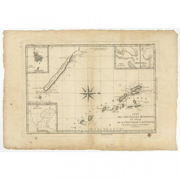 Isles des Nouvelles Hebrides et Celle de la Nouvelle Caledonie - Bonne (1780)