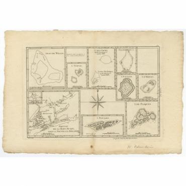 Esquisse de la Bay Dusky, Dans La Nouvelle Zeelande (..) - Bonne (1780)
