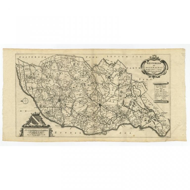 Antique Map of Westergo by Schotanus (1664)