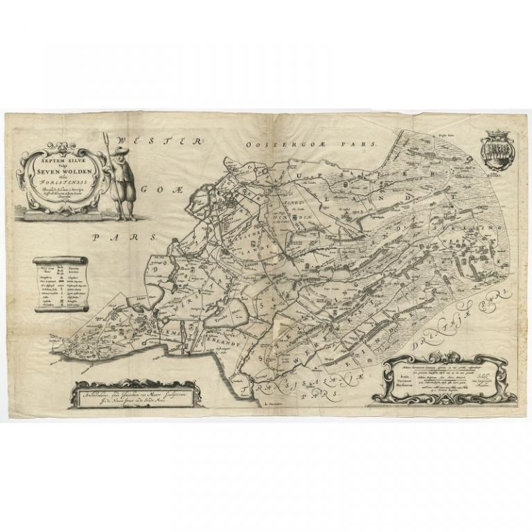 Antique Map of Zevenwouden by Schotanus (1664)