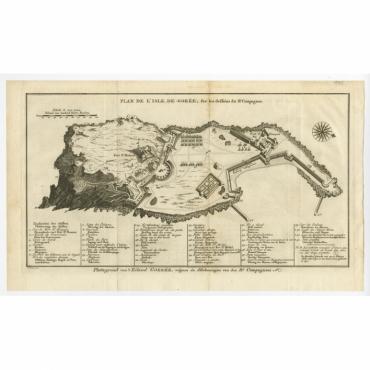 Plan de l'Isle de Gorée - Plattegrond van t'Eiland Goeree - Van Schley (c.1750)