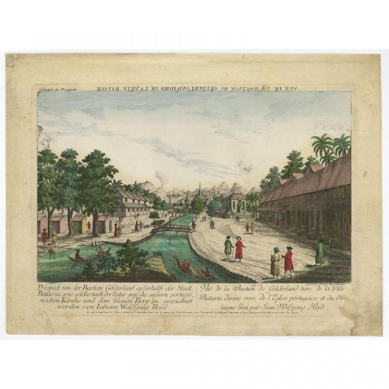 Antique Print of Bastion Gelderland by Habermann (c.1770)