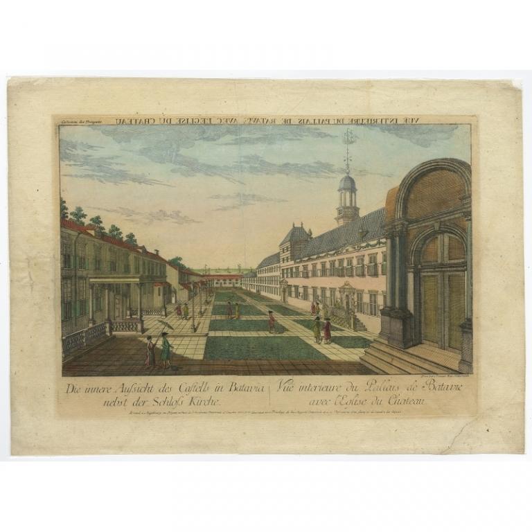 Die innere Aufsicht des Castells in Batavia (..) - Habermann (1770)
