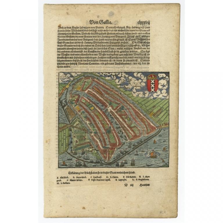 Untitled bird's-eye Plan of Amsterdam - Munster (c.1580)