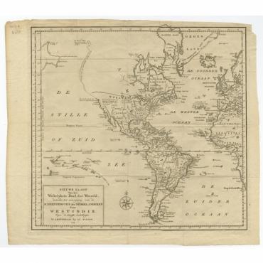 Nieuwe Kaart Van het Westelykste Deel Der Weereld (..) - Tirion (c.1754)