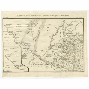 Carte des Monts Altaisk et Des Deserts Salins Qui Les Voisinent - Tardieu (1783)
