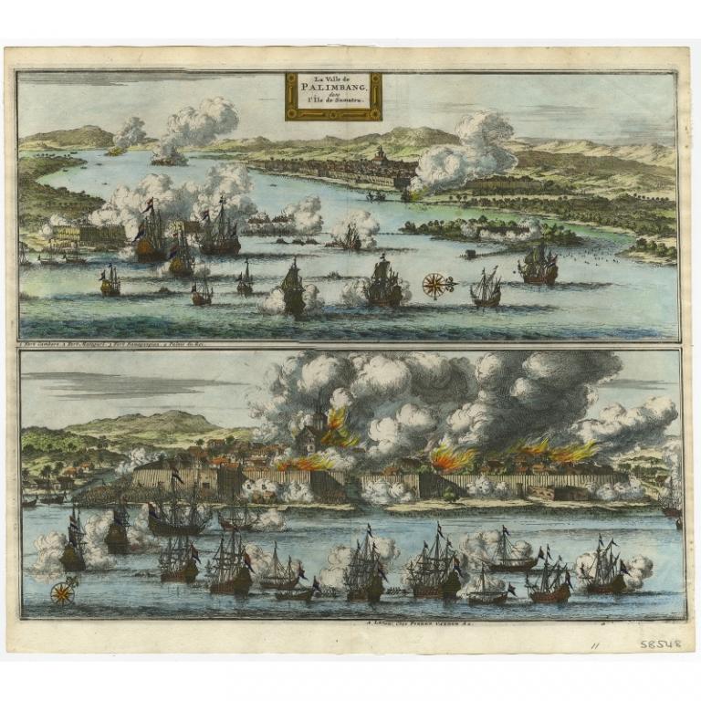 Antique Print of Palembang by Van der Aa (c.1700)