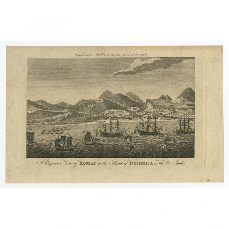 Antique Print of Roseau by Middleton (1779)
