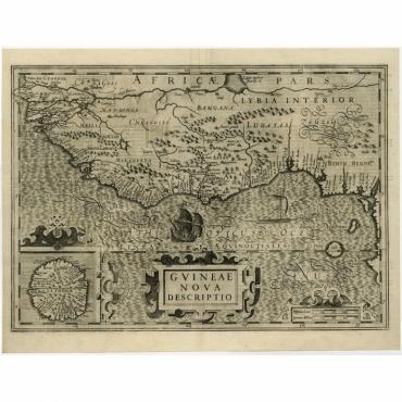 Guineae Nova Descriptio - Hondius (c.1600)