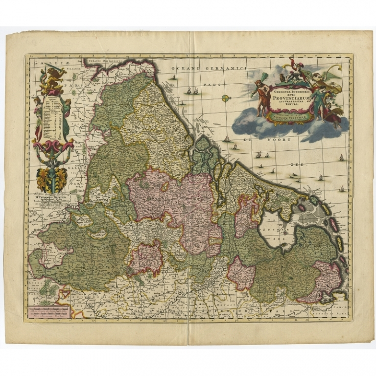 Germaniae Inferioris XVII Provinciarum Accuratissima Tabula - Visscher (c.1680)