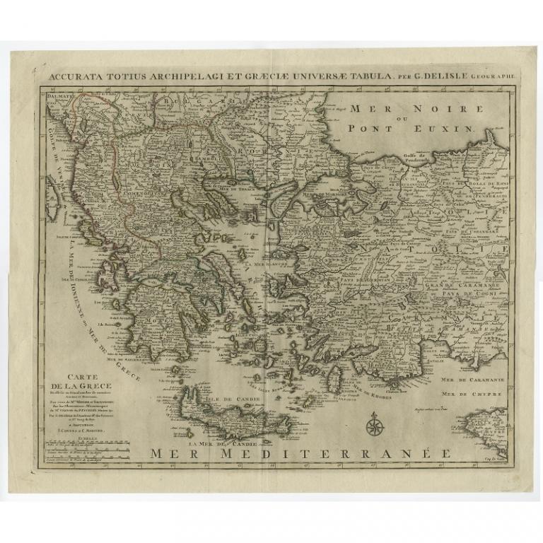 Accurata Totius Archipelagi Et Graeciae Universae Tabula - De l'Isle (1745)