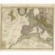 Antique Map of Europe by De l'Isle (c.1745)